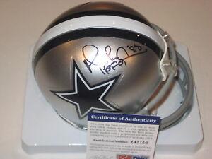 6af95f0e518 MICHAEL IRVIN Signed Dallas COWBOYS Mini-helmet w/ PSA COA & HOF ...
