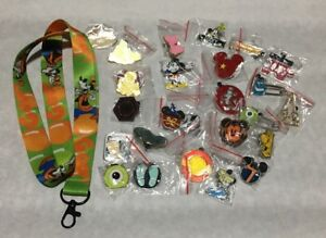 Disney-TRADING-PINS-25-Pin-Lot-New-No-Doubles-FREE-LANYARD-amp-2-FREE-PINS