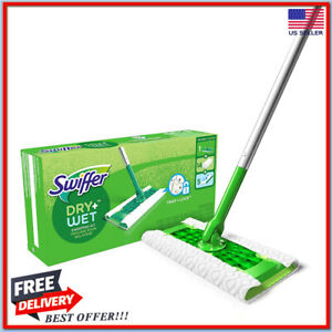 Swiffer Sweeper Cleaner Dry and Wet Mop Starter Kit for Cleaning Hardwood Floors 705353646850 | eBay