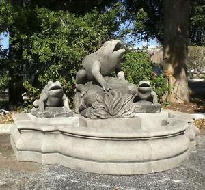 Fontana muro con rana pietra pozzi bacini d 39 acqua pozzo da giardino ornamentale pozzo ebay - Fontana in pietra da giardino ...