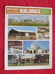 Vintage 1973 Butler Farm Buildings Brochure Ebay