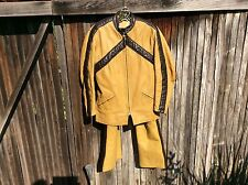 RARE VTG BATES Leather Dirt Track Drag Racing Motorcycle Suit Jacket 40 Pants 34