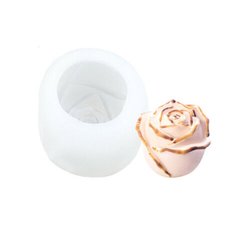 3D Rose Flower Silicone Fondant Cake Mold  Plant Chocolate DIY Baking Mould Tool