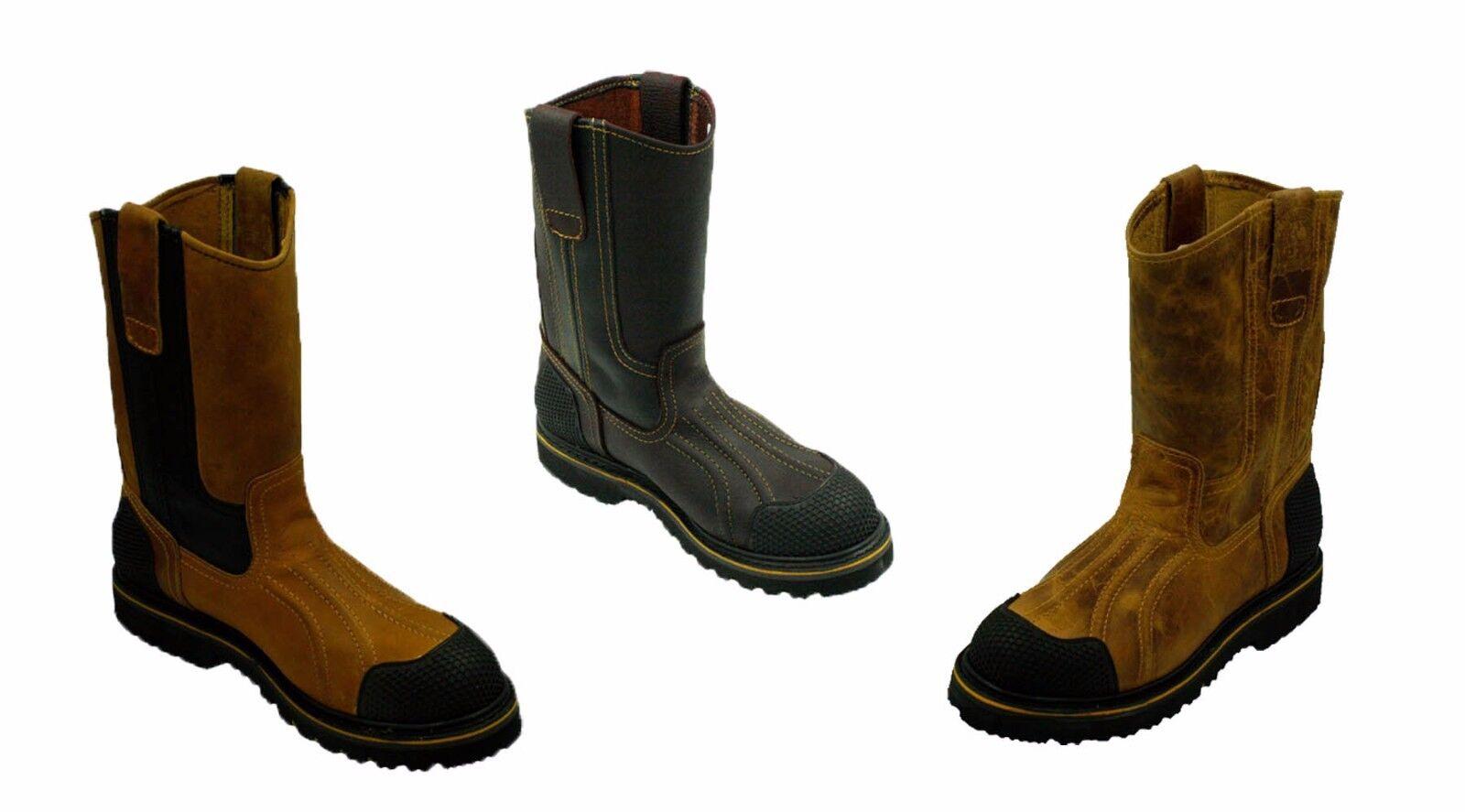 Potro rebelde-para Hombre botas De Trabajo Antideslizante Agua Aceite Gas Slip botas De Seguridad