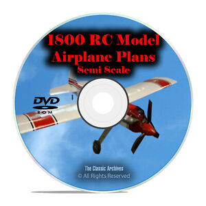 Details about 1,800 Semi Scale Remote Control RC Radio Model Airplane  Plans, PDF DVD I24