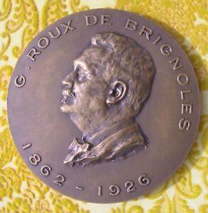 MEDAILLE GABRIEL ROUX DE BRIGNOLES 1862-1926 medecine chirurgie Marseille O38nX3WH-09120114-583791904