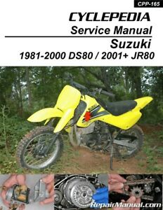 image is loading suzuki-ds80 -jr80-motorcycle-cyclepedia-printed-service-manual