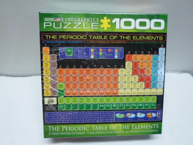 The Periodic Table of the Elements Jigsaw Puzzle - 1000 ...