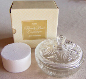 Vintage-1971-Avon-034-BEAUTY-DUST-CRYSTALIQUE-034-Talc-Container-for-Avon-Refills-NEW