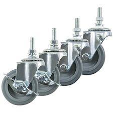 Industrial Hardware Caster Wheels Casters Set Of 4 Inch Rubber Heavy Duty