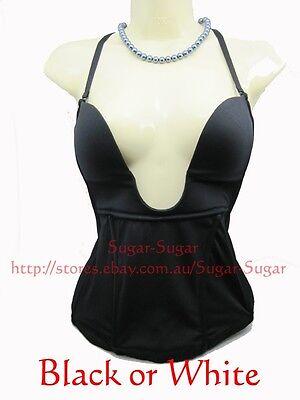 New Ladies Ultra-Low Plunge Corset Bra~ Size: 12A, 12B, 14C, 14D, 16C~