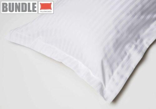 Belledorm Hotel Suite Satin Stripe 4 Pack Oxford Pillowcases