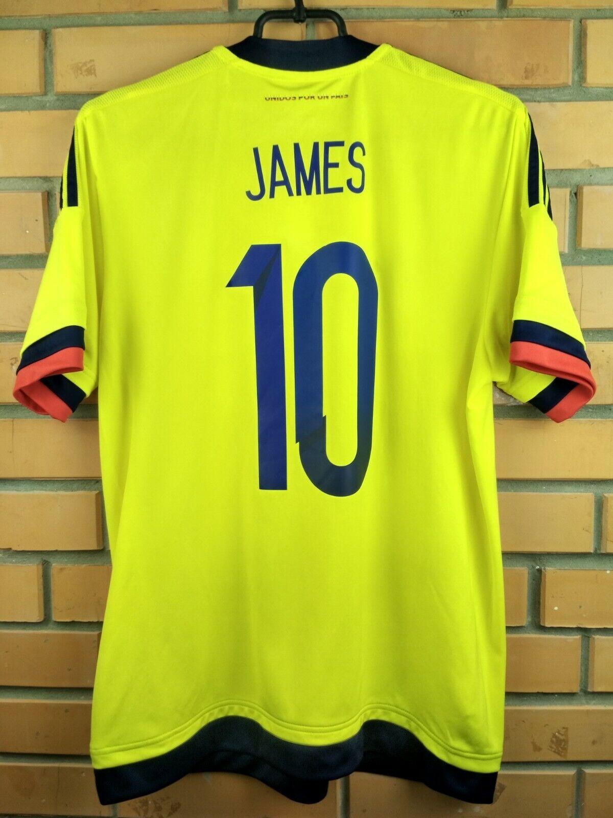 7108715ea38 10 10 James Colombia soccer jersey medium 2015 2017 shirt M62788 football  Adidas