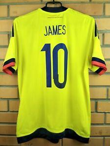 82574d1db 10/10 James Colombia soccer jersey medium 2015 2017 shirt M62788 ...