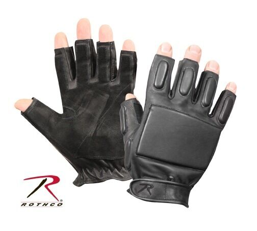 Black Fingerless Tactical Rappelling Gloves 3454 Rothco