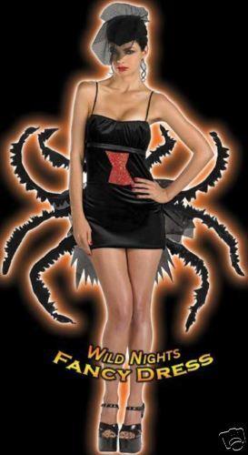 FANCY DRESS COSTUME D DELUXE WIDOW MAKER SPIDER 14-16