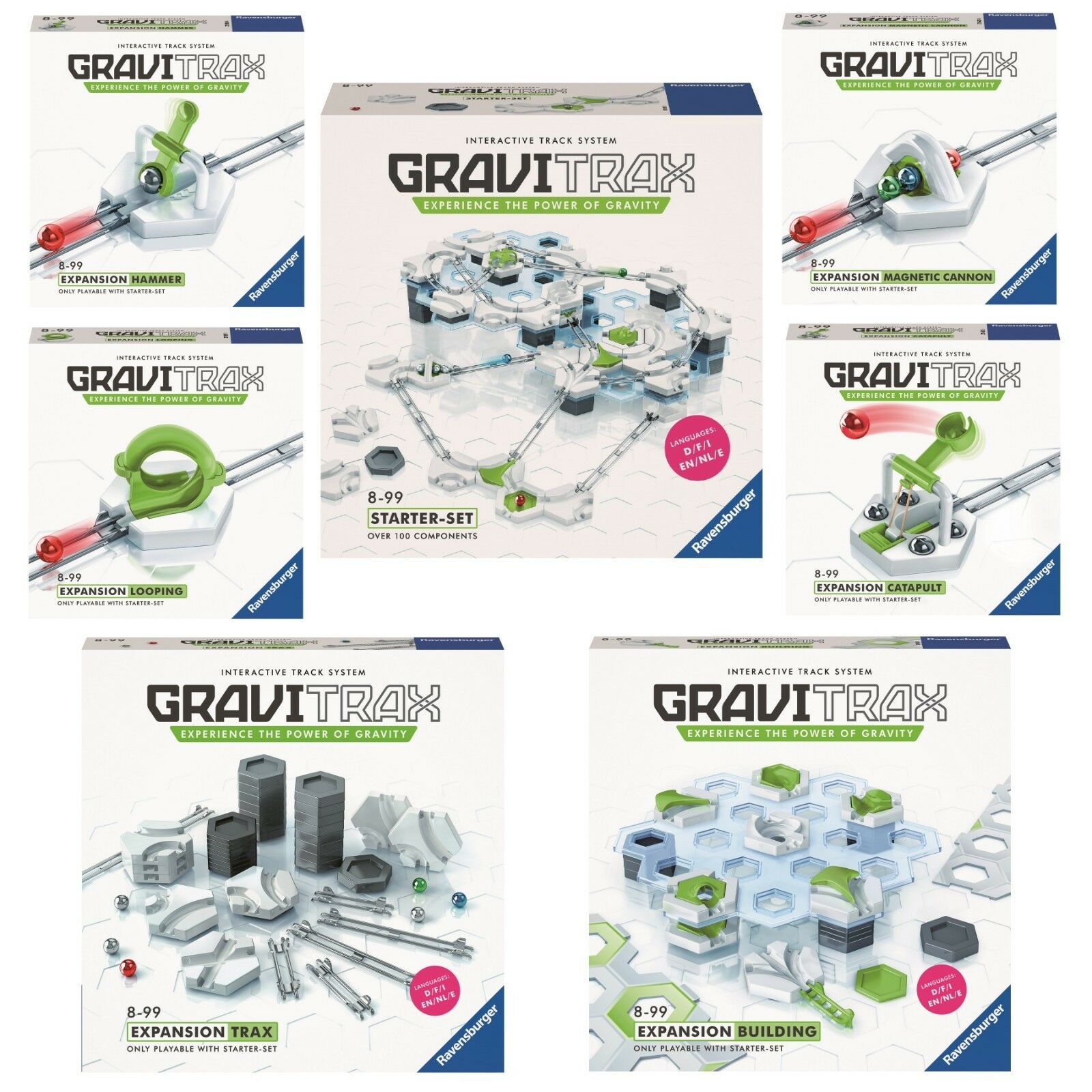 Ravensburger Gravitrax Starter Set + 6 Extensions Gravitrax Expansion