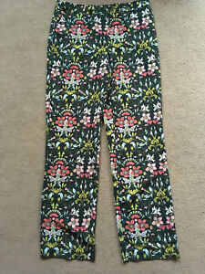 BNWT-NEXT-Ladies-Green-Floral-Trousers-Size-10-Reg-Leg-32-034
