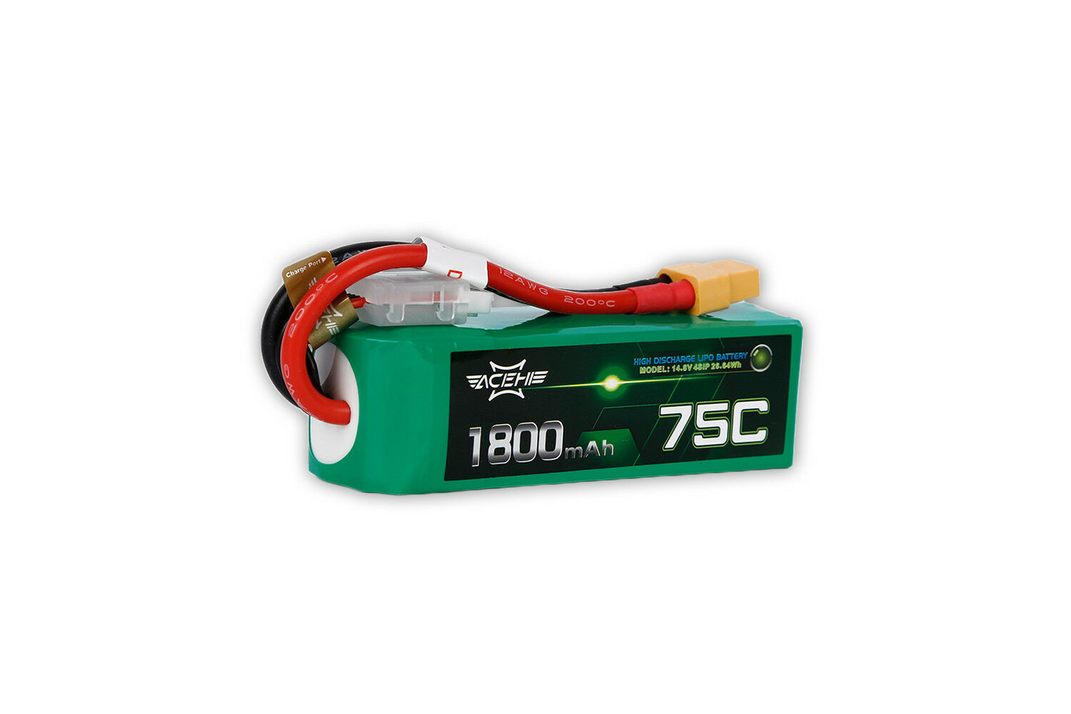Acehe 4s 14,8V 1800mAh 75C XT60 4S1P High-End FPV Race LiPo Akku Batterie
