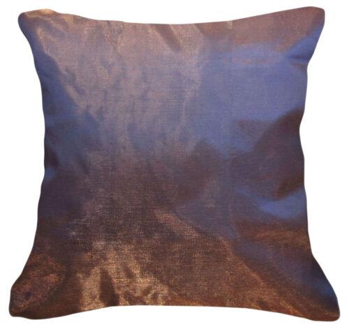 Jb216a 2 Pcs X Or Bleu Poly Taffetas Uni Coussin//oreiller Housse de taille personnalisée