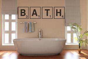 Detalles de Cuarto De Baño, Baño, Scrabble, letras, Pared Arte Vinilo  Calcomanía Adhesivo- ver título original