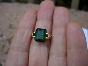 Vintage-2-CT-Emerald-Cut-Green-Emerald-14K-Yellow-Gold-Finish-Wedding-Ring