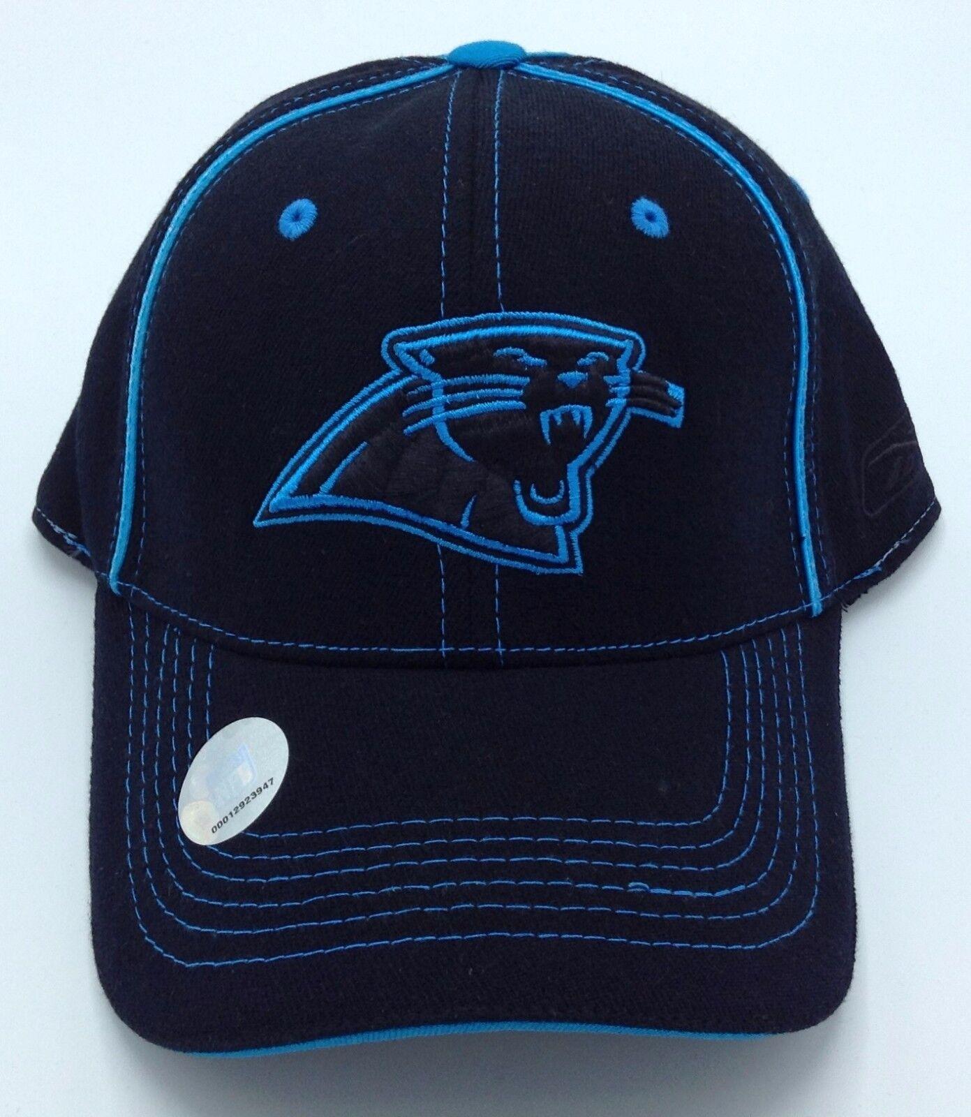 NFL Carolina Panthers Reebok Adulto Estructurado Elástico Curvo Ala Cap New