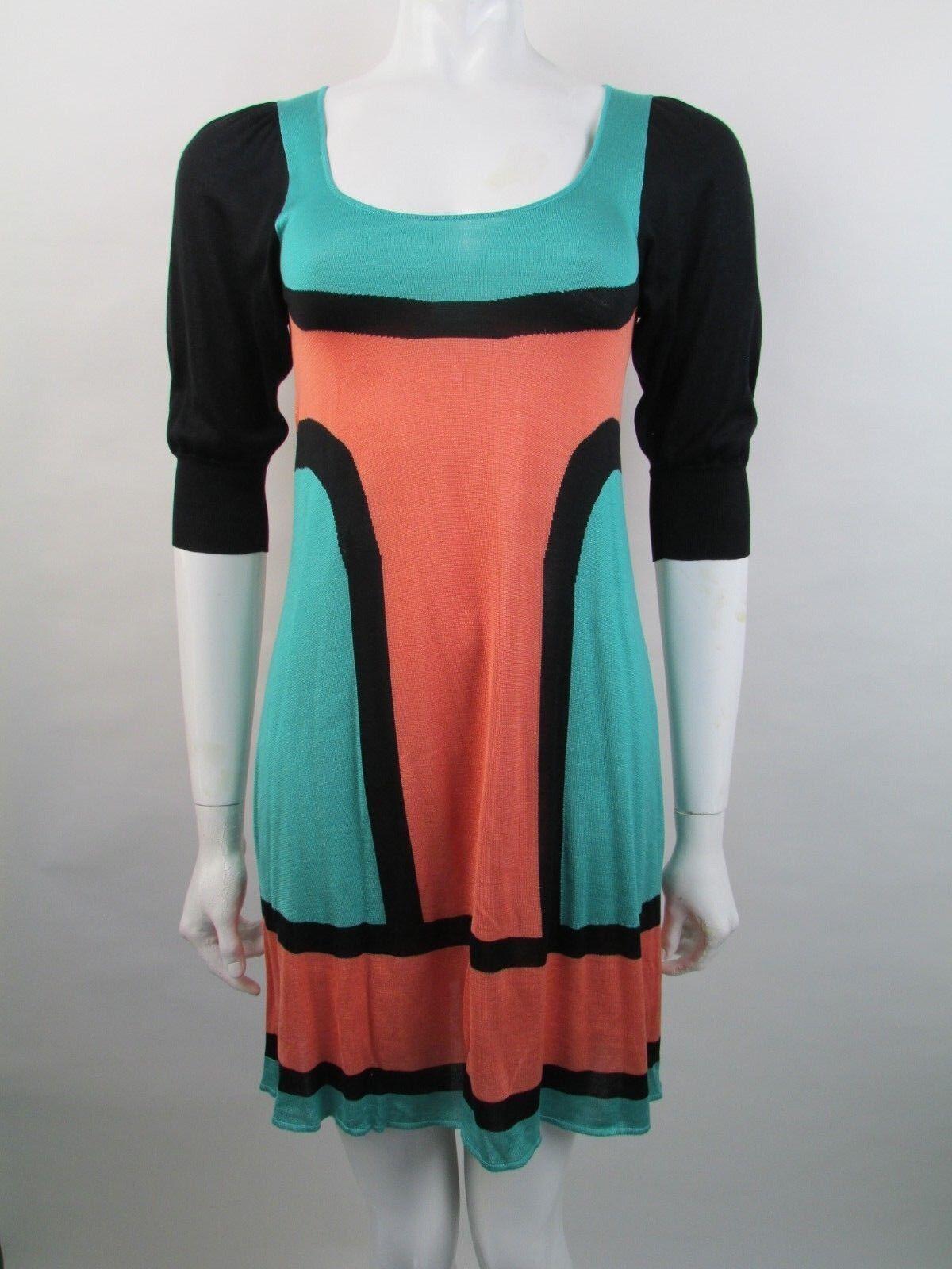 Balenciaga Größe 38FR UK 10 Silk Knit Retro Dress
