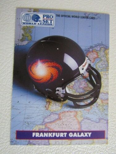 ef1 PRO SET 1991 World League of American Football Cards 1-43 variantes