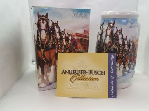 Clydesdales 75th Anniversary 2008 Budweiser Beer Holiday Beer Stein