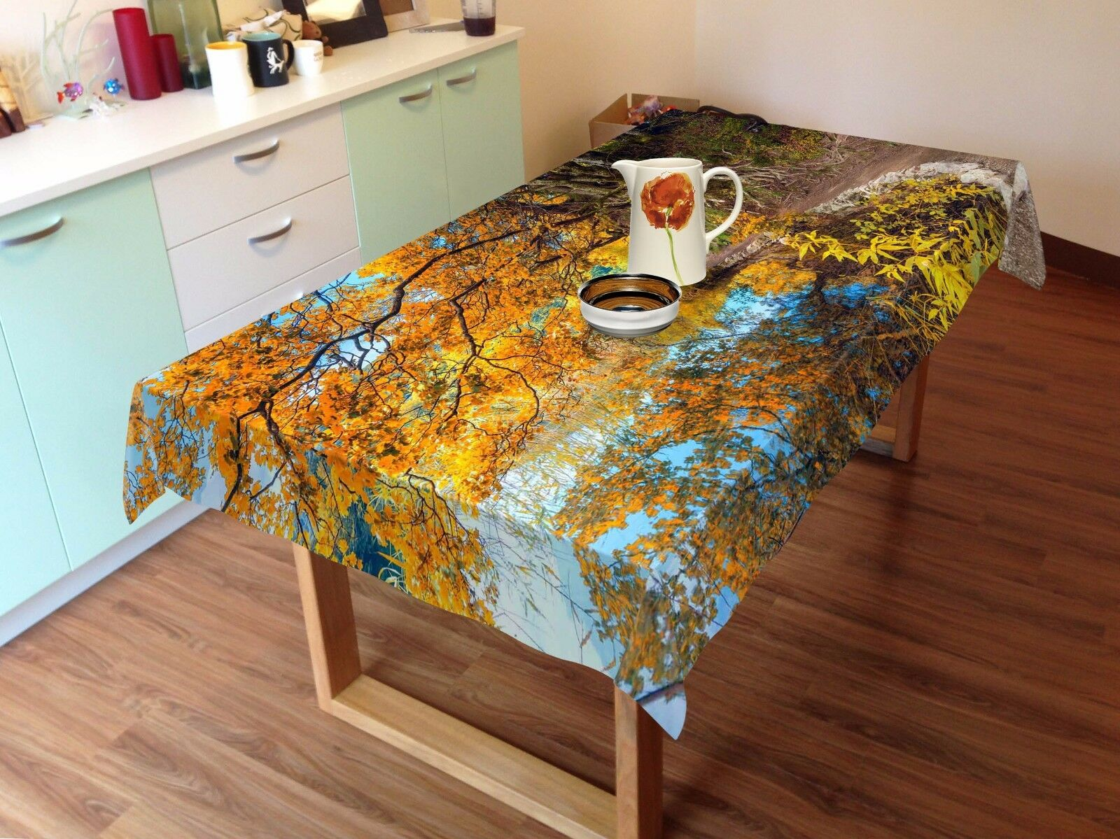 3D Trees 44 Tablecloth Table Cover Cloth Birthday Party AJ WALLPAPER UK Lemon