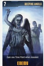 Doctor Who the Card Game 2009 c7e - 3 Art Cards; Weeping Angels, Visual Device