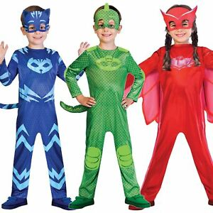 Image is loading Boys-Girls-PJ-Masks-Costumes-Official-Childrens-Superhero-  sc 1 st  eBay & Boys Girls PJ Masks Costumes Official Childrens Superhero Fancy ...