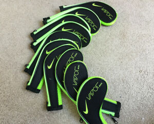 11-x-Quality-Black-Nike-Vapor-Golf-Club-Iron-Cover-HeadCovers-Long-Zipped-L-amp-R-UK