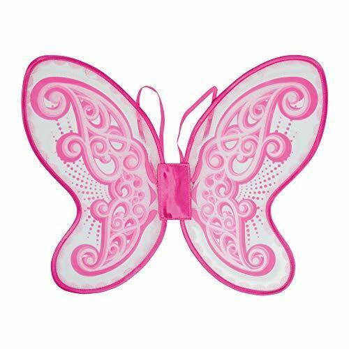 Girls Glitter Pink Butterfly Wing Fairy Princess Party Fancy Dress Accessory