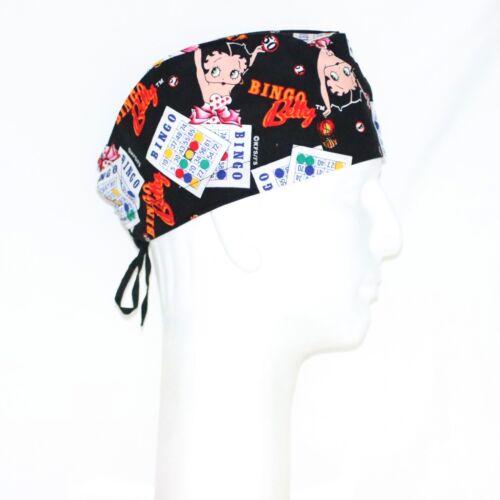 Betty Boop Bingo Theme Scrub Hat