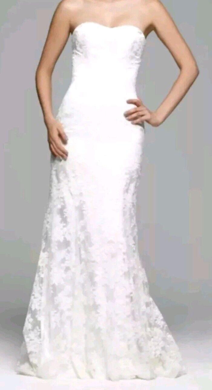 Stewart Parvin 'So Amazing' Ivory Lace Wedding Dress Size 8