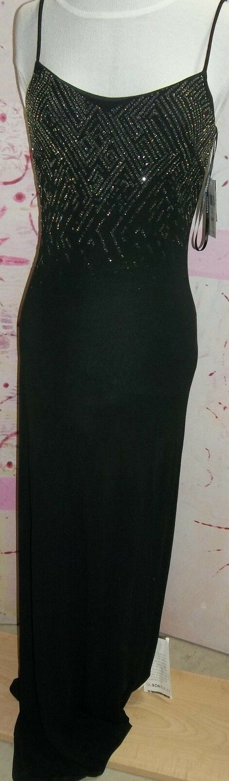 RAMPAGE  Special Occasion schwarz Beaded Dress, Spaghetti Strap,