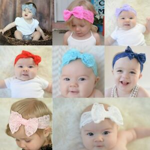Hair-Accessories-Photo-Props-Hair-Band-Headwrap-Lace-Bow-Knot-Baby-Headband