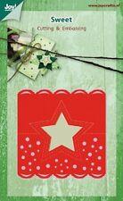 JOY CRAFTS CUTTING EMBOSSING DIE - SWEET - Head Card STAR 6002/0392 REDUCED