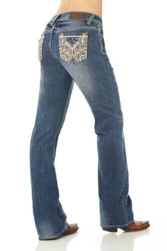 da fiori taglio Up Cgj30902 Nwt donna a Cowgirl stivale con Boot Jeans Lione a Lion's qZXwB87