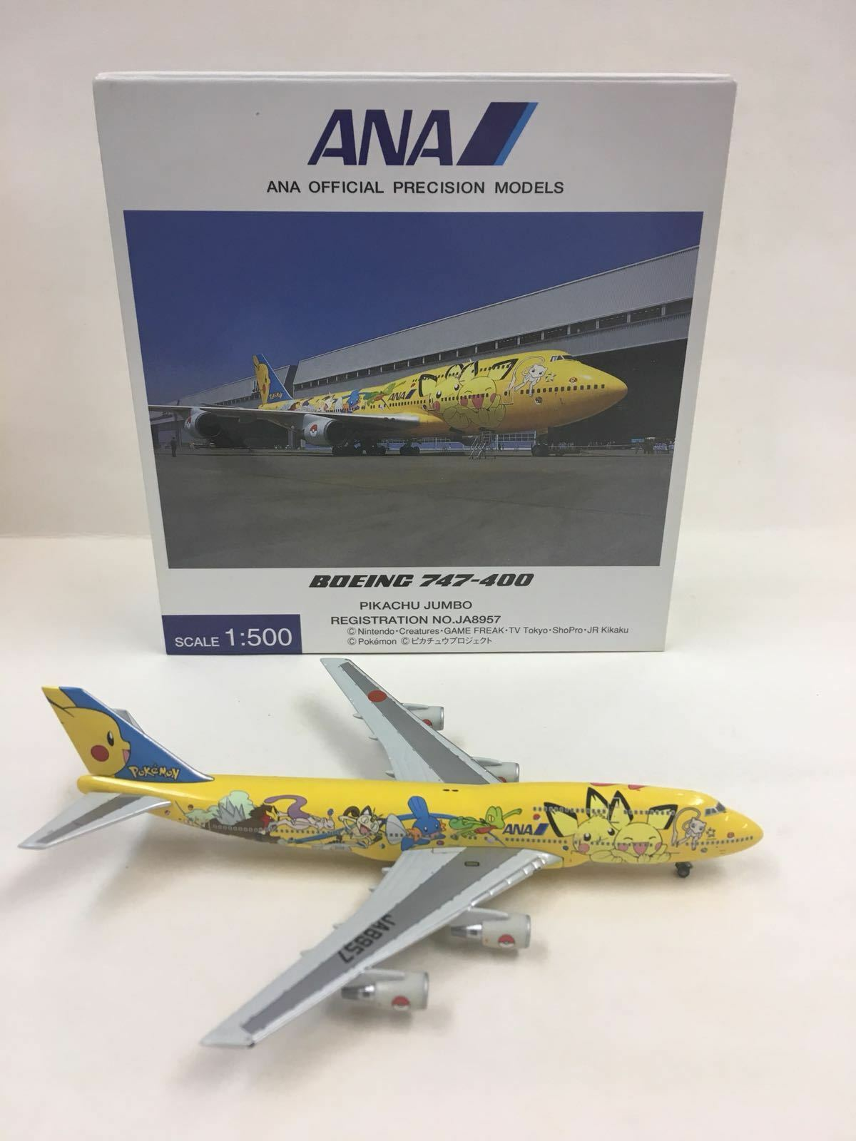 Hogan Herpa Wings ANA Pikachu Jumbo Boeing 747-400 1 500 JA8957 NH50030