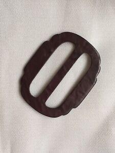 1930s-Vintage-Belt-Buckle-Retro-Dress-Old-Purple-Mottled-Catalin-Ribbon