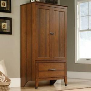 Details about Wardrobe Armoire Storage Closet Cabinet Bedroom Furniture  Wood Clothes Organizer