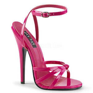 da538c377157 Image is loading PLEASER-DEVIOUS-DOMINA-108-HOT-PINK-PATENT-STILETTO-