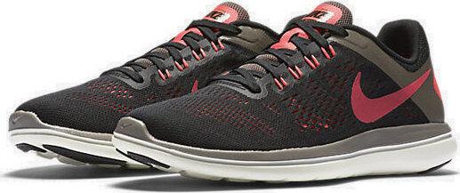 83b82f388aa6 Women s Nike Flex 2016 RN Black Hot Punch Dark Mushroom grey running 830751 -012
