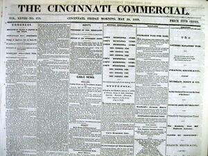 Lot-of-5-Original-1868-CINCINNATI-Hamilton-County-OHIO-newspapers-156-years-old