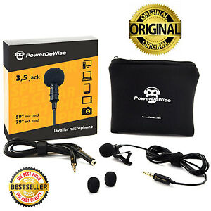 SALE-PowerDeWise-Grade-Lavalier-Lapel-Microphone-Perfect-for-Recording-Youtube