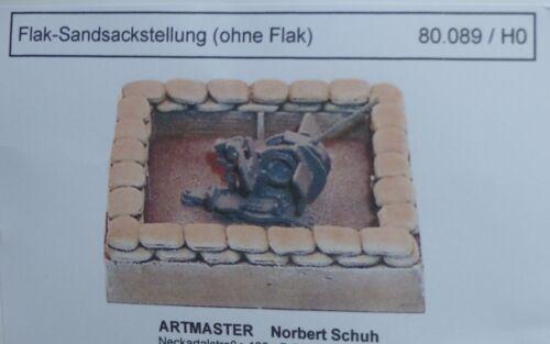 Artmaster 80.089 Flak Sandsackstellung ohne Flak H0 1:87 Bausatz Resin