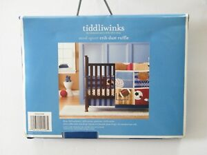 Details About Tiddliwinks Mod Sport Crib Dust Ruffle Nursery Decor Sports Theme